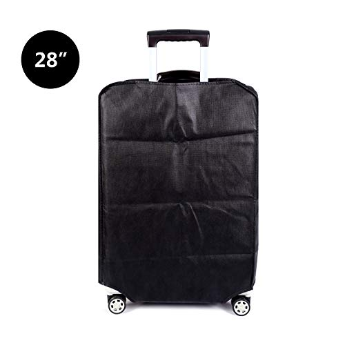 Travel Luggage Cover Plain Color Suitcase Cover,3 Colors,Fits 28 Inch,Black by CXGIAE (Image #2)
