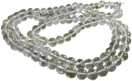 Rose Quartz Mystic Quartz and Clear Quartz Mala Rose Quartz Mala Beads Necklace Mala Beads