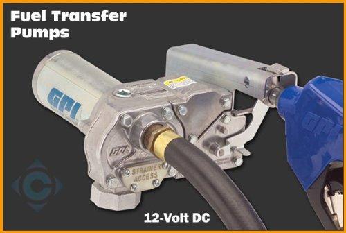 GPI 110300-4 M-180S-AU (CE) High Flow Aluminum Gear Pump with Automatic Unleaded Nozzle, 12V DC