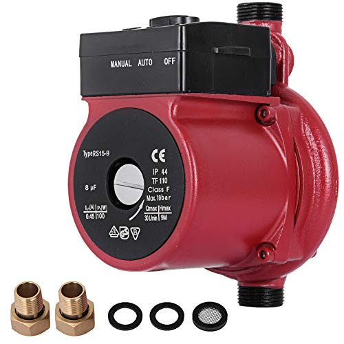 Happybuy RS15-9 Hot Water Recirculating Pump 110V Circulation Pump 1-Inch NPT 3-speed Recirculation Pump 8 Gpm for Water Heater System