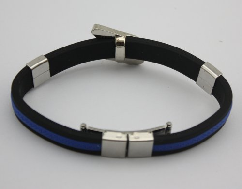 Fairy Tail Wristband Bracelet Wrist Strap Pendant Strap Charm Blue