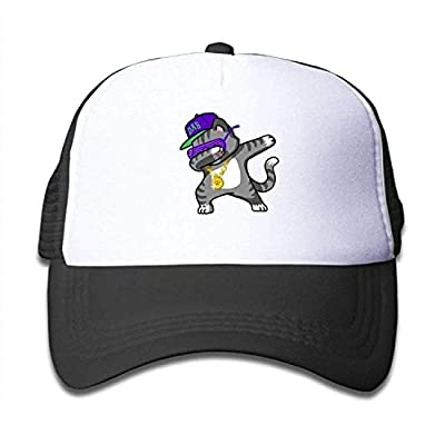 xinrun Trucker Cap Boy Girl Dabbing Cat Funny - Dab Hip Hop Dabbing Kitten Mesh Baseball Hat