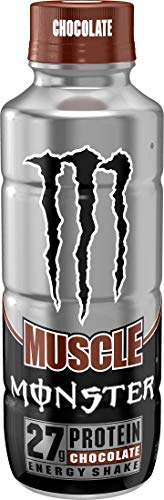 Muscle Monster Chocolate Energy Shake, Protein Energy Drink, 15 ounce Pack of 12