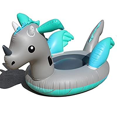 DMGF Inflatable Unicorn Pool Float Giant Swiming Partytoys Summer Outdoor Vacation Beach Loungers Lake Ride-Ons River Raft For Adults Kid