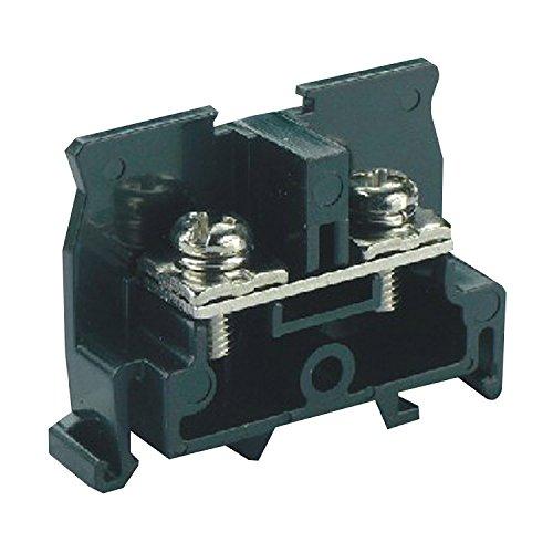 39 mm Wide 600V 240 Amp ASI ASI391009 UTD-200 NEMA Style Ring Lug Terminal Block Black DIN Rail Mounted Pack of 5 2//0 to 4//0 AWG M10 Screw Size
