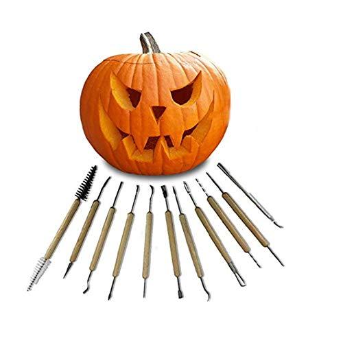 Juego De Herramientas De Tallado De Calabaza De Halloween, Linterna De Halloween Esculpiendo, Decoración Talla Para Niños Y...