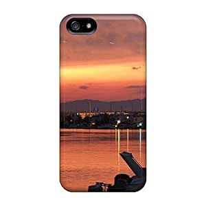LastMemory Iphone 5/5s Hybrid Tpu Case Cover Silicon Bumper Sunset