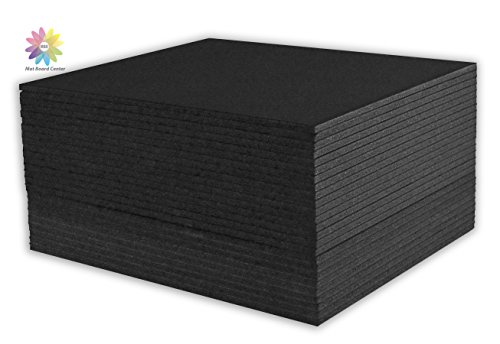 Mat Board Center, Pack of 25 8x10 3/16 BLACK Foam Core Backing Boards by MBC MAT BOARD CENTER