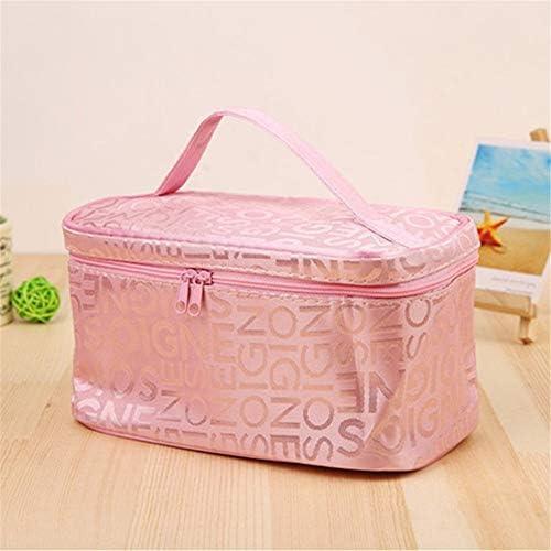 化粧品袋 女の子の気質の女性のためのバニティケースポーチポータブル多機能ポータブル洗浄バッグ化粧品袋ジッパー収納袋の主催 旅行化粧収納ボックス (Color : Rose red)