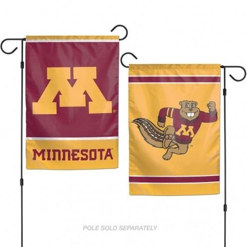 WinCraft NCAA University of Minnesota Gophers 12x18 Inch 2-Sided Outdoor Garden Flag Banner (Ncaa Garden Decorations)