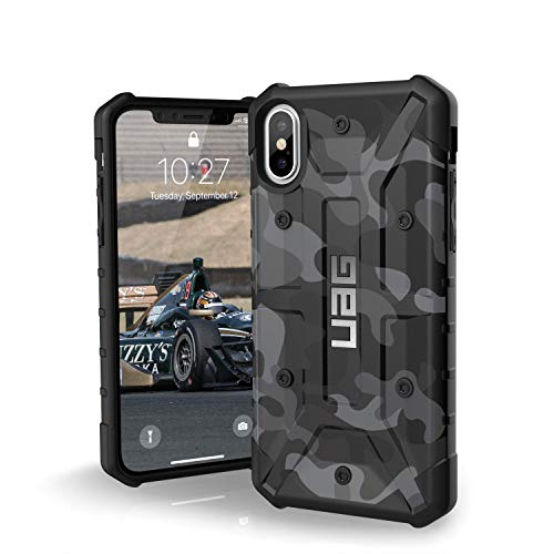 UAG iPhone Xs/X [5.8-inch Screen] Pathfinder SE Camo Feather-Light Rugged [Midnight] Military Drop Tested iPhone Case
