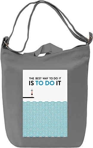 Do it Borsa Giornaliera Canvas Canvas Day Bag| 100% Premium Cotton Canvas| DTG Printing|