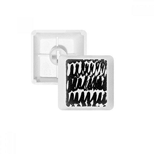 Brushwork Curve Texture PBT Keycaps for Mechanical Keyboard White OEM No Marking Print