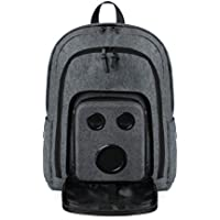 Bluetooth Speaker Backpack With 15-Watt Speakers & Subwoofer for Parties/Festivals/Beach/School. Rechargeable, Works with iPhone & Android (Gray, 2018 Edition)