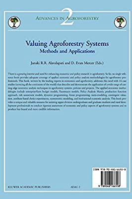 Valuing Agroforestry Systems: Methods and Applications