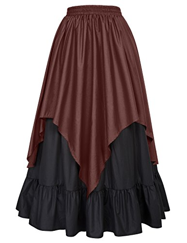 Belle Poque Women Renaissance Pirate Costume Victorian Gothic Skirt BP467-2 L