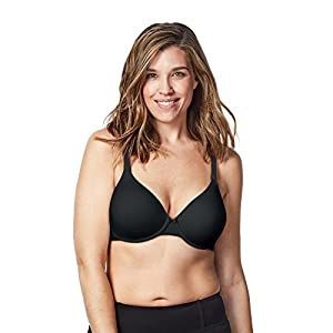 Alfi Bravado! Designs Women's Belle Underwire Maternity and Nursing Bra, Sizes 32 to 42, B to H Cups (C, Black, 38C)