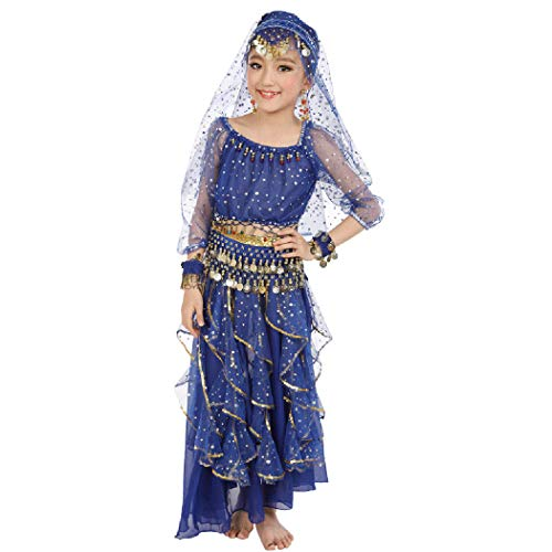 Maylong Girls Long Sleeve Arabian Princess Dress up