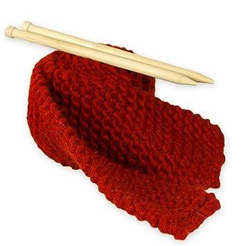 8f4e5339499c Kit Tricot Débutant pour Tricoter Echarpe Grosse Laine Rouge Vif ...