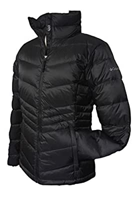 Columbia Women's Polar Freeze Short Down Jacket Omni Heat Warm Winter Coat, BLACK