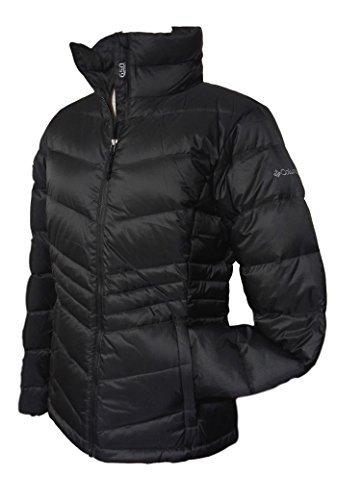 Womens Columbia Winter Jackets - Columbia Women's Polar Freeze Short Down Jacket Omni Heat Warm Winter Coat, BLACK (Medium)