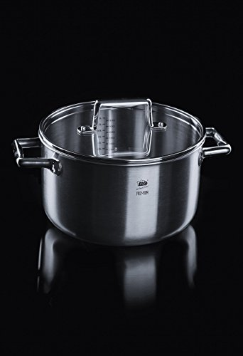 ELO Multilayer Stainless Steel Pots Pans with System, Easy-Pour Measuring Scale Glass 8-Piece