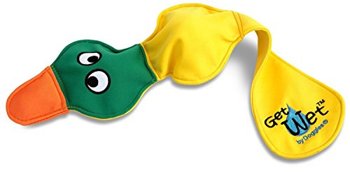 Water Toy Dog (DOGGLES - GET WET - FLOATING DOG PET TOY - Yellow Duck)
