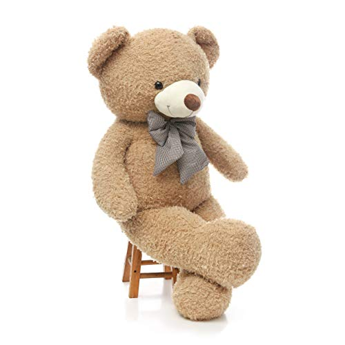 DOLDOA Big Teddy Bear Stuffed Animals Plush Toy for Girlfriend Children (47 inch, Tan) from DOLDOA