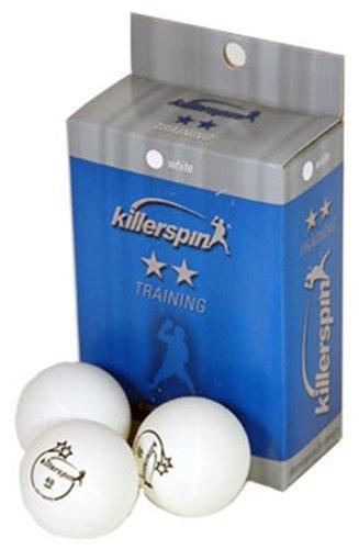 Killerspin 2 Star Training Table Tennis Balls 6-Pack, White