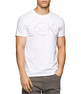 Calvin Klein Men's Short Sleeve Ck Logo Crew Neck T-Shirt