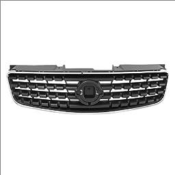 CarPartsDepot, Front Grille Grill Matte Black Replacement Chrome Trim Molding, 400-36381 NI1200213 62070ZB000