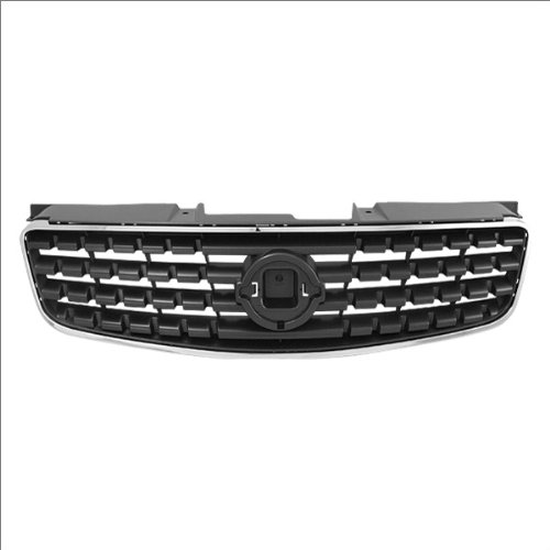 - CarPartsDepot, Front Grille Grill Matte Black Replacement Chrome Trim Molding, 400-36381 NI1200213 62070ZB000
