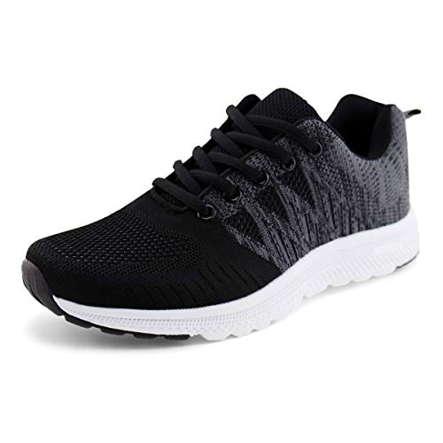JABASIC Women Casual Breathable Running Sneakers Lightweight Tennis Shoes (6,Black) (Best Casual Shoes For Women)