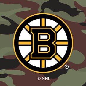 Boston Bruins Traditional Camo Design on Black iPad Air 2 Swivel Stand Case