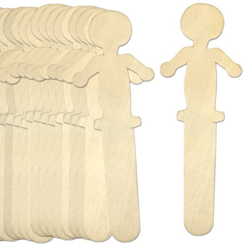 100 Jumbo People Shaped Craft Sticks (Wood Person compare prices)