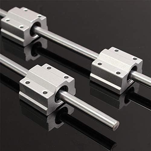 Queenwind 2pcs 8mm x 300mm リニアロッドレールシャフト、SCS8UU リニアベアリングスライドブッシュ付き