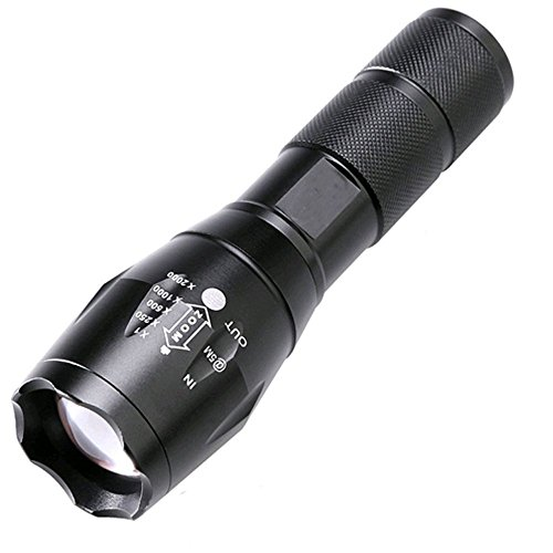BESTSUN 2500 Lumen Zoomable Cree XML T6 LED 18650 Flashlight Focus Torch Lamp Adjustable - Vintage Color Mag