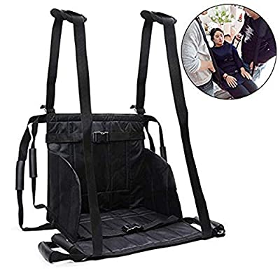 Jeamive Patient Lift Stair Slide Board Transfer Emergency Evacuation Wheelchair Belt Safety Full Body Medical Lifting Sling Sliding Transferring Disc Use for Seniors,Handicap