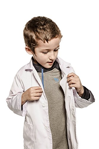 Working Class Kid's Lab Coat Durable Lab Coats for Kid Scientists or Doctors White
