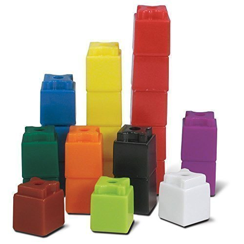 - hand2mind 3/4-Inch Multi-Colored Linking UniLink Cubes (Set of 100)