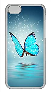 Generic Blue Butterfly Hard Case for iPhone 5C