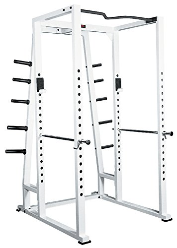 York Barbell 54030 Power Rack with Weight Storage44; White price