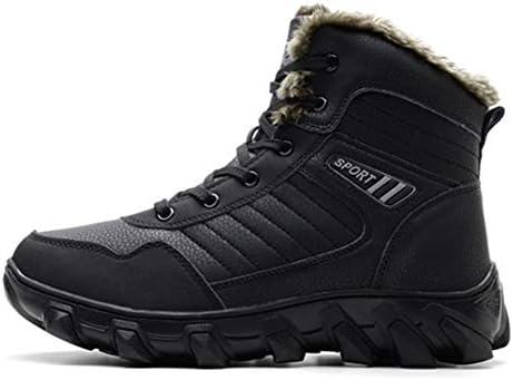 暖かい ブーツ メンズ ブラック 厚底 韓国風 レースアップシューズ 防滑 マーティンブーツ 冬用 男性用 ワークブーツ 作業靴 安全靴 綿靴 雪靴 アウトドア ビジネスシューズ 厚い靴底 裏起毛 ショートブーツ