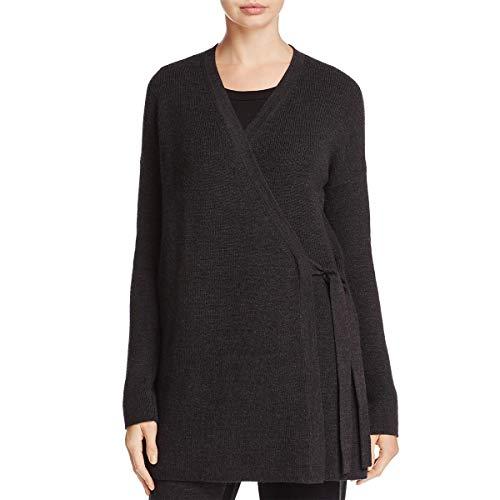 Eileen Fisher Womens Merino Wool Wrap Cardigan Sweater Gray S