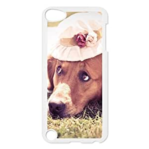 Ipod Touch 5 Case Sad Dog on the Grass, Case for Ipod Touch 5g - [White] Tyquin