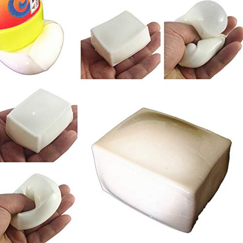 CHoppyWAVE Squeeze Toys Stress Reliever, Anti Stress Tufu Shape Reliever Ball Autism Mood Squeeze Relief ADHD Toy Gift - White