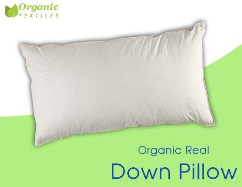 Traditional Pillow Easy Clean Medium : Organic Real Clean Down Pillow - King size, Medium Firm