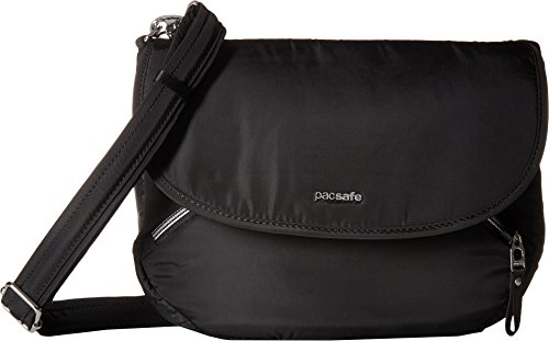 Pacsafe Women's Stylesafe Anti-Theft Crossbody Bag Black One Size (Best Bag To Avoid Pickpockets)