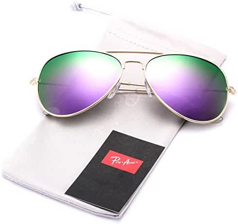 Pro Acme Classic Polarized Aviator Sunglasses for Men and Women UV400 Protection
