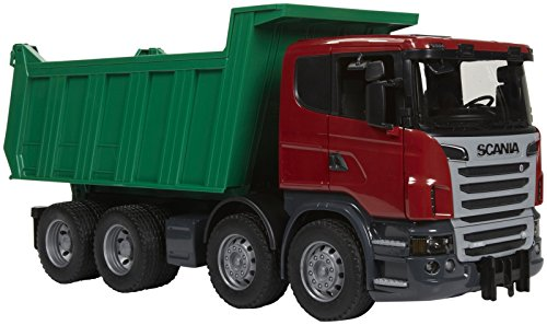 Bruder Scania R-Series Dump Truck (Bruder Toys Mack Granite Liebherr Crane Truck)